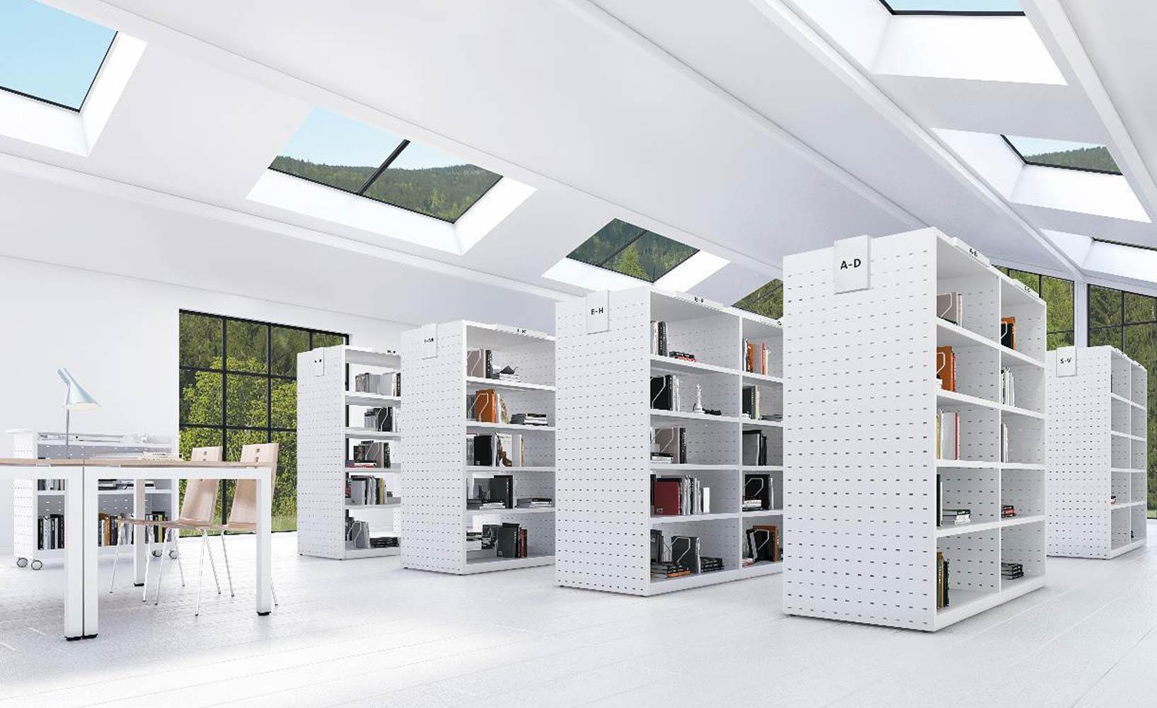 Euroshelves - Futuristisches Bürodesign