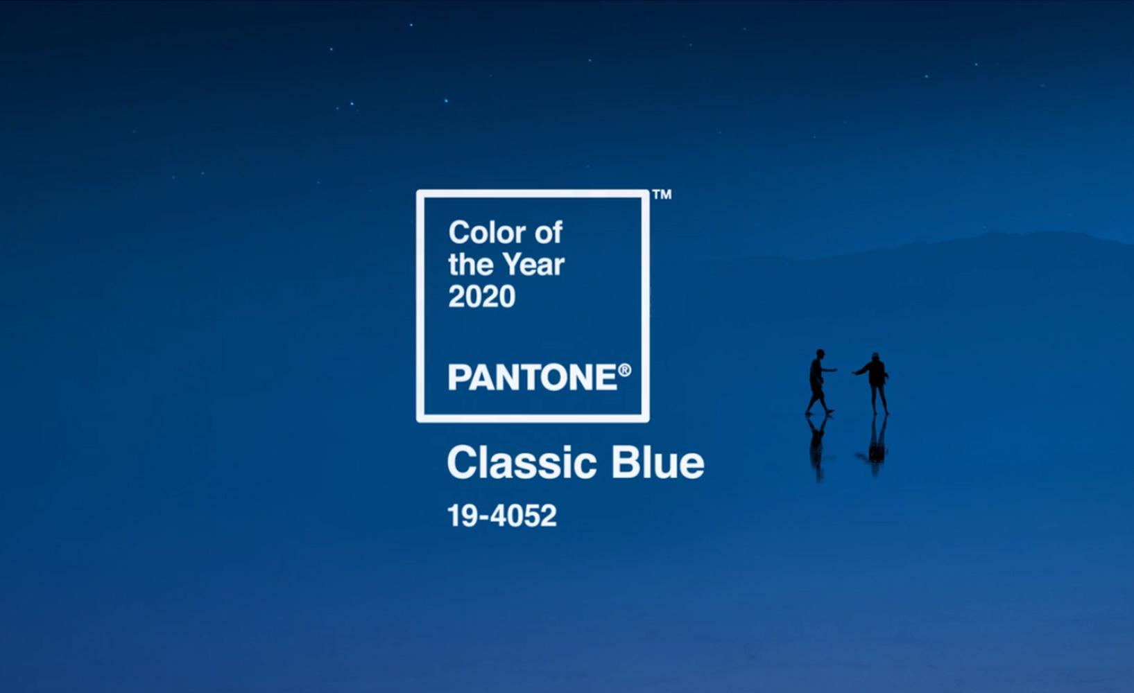 Trendfarbe des Jahres 2020 - Classic Blue