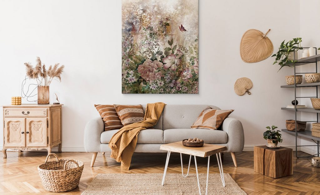 Blumenbilder als Raumgestaltung