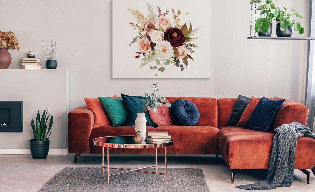 Blumenbilder als schickes Dekoaccessoire